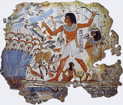 «Сцена охоты», фрагмент росписи египетской гробницы, XIV век до н.э. - Очеловечились. Дикие нравы животных и людей - Форум Сириус - Торез
