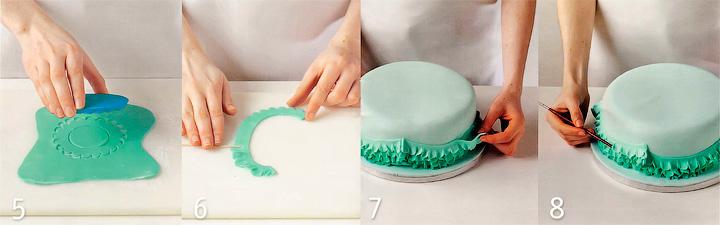 Как сделать оборки? - Торт с цветами и оборками