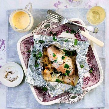 Конверты с тушеной в вине грудкой - Куриные блюда