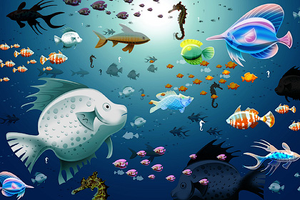 Сырые обитатели морей и океанов