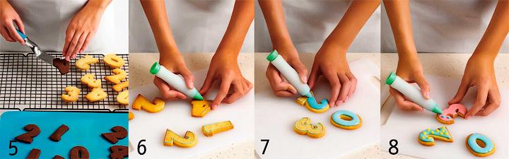 Выпекание и украшение печенья - Глазированное печенье «Цифры» для детского дня рождения