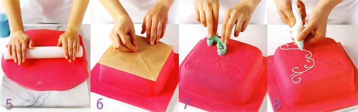 Как украшать торт - Розовый торт «Завиток»