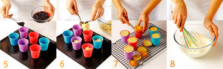 Выпекание пудингов и приготовление крема - Башенки с черной смородиной