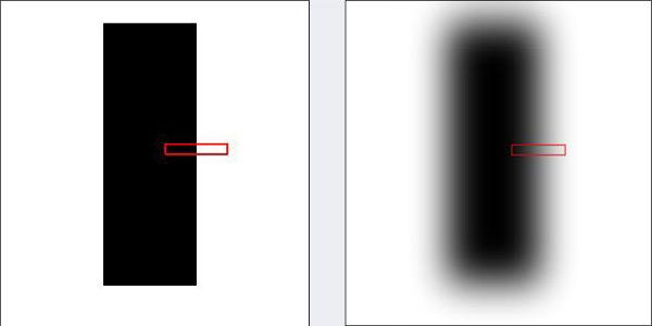 Кусочек черной линии на листе - Как тестировать автофокус?