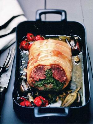Каре барашка, фаршированное травами - Блюда из мяса ягнятины