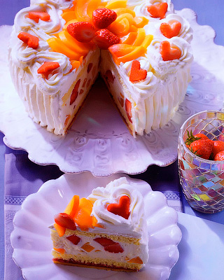 Абрикосово-винный торт