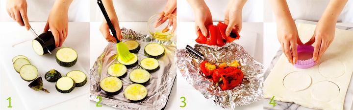 Как подготовить овощи и тесто - Овощные башенки