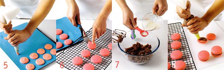 Как отсадить испечь и собрать макаруны - Французские шоколадно-розовые пирожные - Макаруны