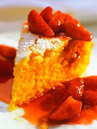 Апельсиновый пирог с полентой