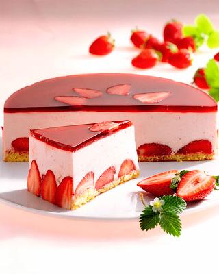 Клубничный торт-мусс