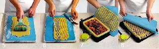 Как сделать решетку и собрать пирог   «Корзинка с ягодами»   классический пирог