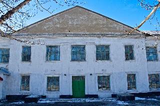 Центральный вход Школа 7 на посёлке «Лутугино» Торез