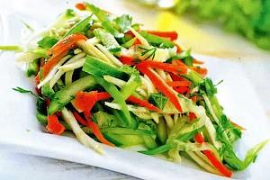 Салат из сельдерея  редьки и моркови