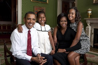 Красота по американски   Барак Обама и семья