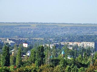 Центр города Тореза  Вид с микрорайона