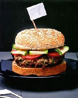 Гамбургер с ягнятиной