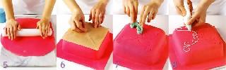 Как украшать торт   Розовый торт «Завиток»