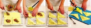 Формовка и наполнение пирожков   Пирожки с мясом и перцем