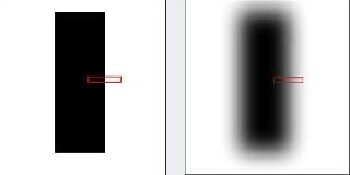 Кусочек черной линии на листе