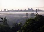 Хлебозавод туман над Торезом