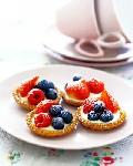 Мини тарталетки с ягодами