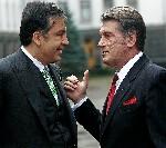 Ющенко и Саакашвилли