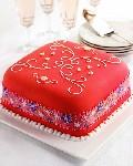 Розовый торт «Завиток»